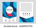 abstract vector layout... | Shutterstock .eps vector #648993793