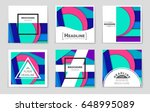 abstract vector layout... | Shutterstock .eps vector #648995089