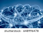 network and connection... | Shutterstock . vector #648996478