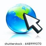vector illustration of cursor... | Shutterstock .eps vector #648999370