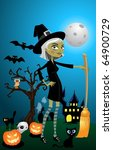 halloween night | Shutterstock . vector #64900729