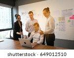 group of diversity business... | Shutterstock . vector #649012510
