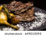 beef meat skirt steak | Shutterstock . vector #649015093