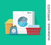 laundry service room vector... | Shutterstock .eps vector #649016323