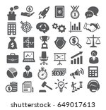 business icons set. management  ... | Shutterstock .eps vector #649017613