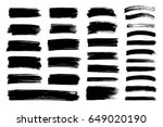 vector black paint  ink brush... | Shutterstock .eps vector #649020190