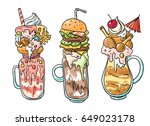 hand drawn vector illustration... | Shutterstock .eps vector #649023178