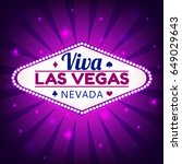 las vegas casino sign.casino... | Shutterstock .eps vector #649029643