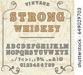 script font handcrafted  vector ... | Shutterstock .eps vector #649029703