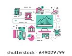 investment line icons... | Shutterstock .eps vector #649029799