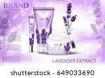 lavender cream ads  natural... | Shutterstock .eps vector #649033690