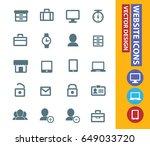 website icon set clean vector | Shutterstock .eps vector #649033720