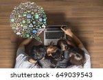 business innovation technology...   Shutterstock . vector #649039543