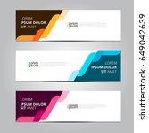 vector abstract design banner... | Shutterstock .eps vector #649042639