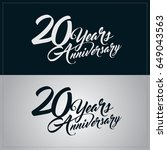 20 years anniversary... | Shutterstock .eps vector #649043563