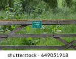 Private Land Sign Attached To...