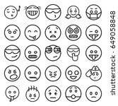 expression icons set. set of 25 ... | Shutterstock .eps vector #649058848