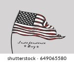 4th of july   american flag... | Shutterstock .eps vector #649065580