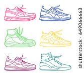 illustration of sneakers.... | Shutterstock . vector #649066663