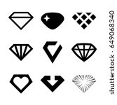 vector diamonds  brilliants ... | Shutterstock .eps vector #649068340
