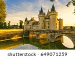 the chateau of sully sur loire... | Shutterstock . vector #649071259
