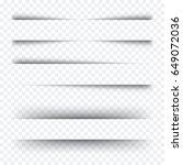 realistic transparent shadows... | Shutterstock .eps vector #649072036