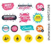 sale shopping banners. special... | Shutterstock .eps vector #649072198