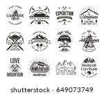 vintage mountaineering badges.... | Shutterstock . vector #649073749