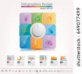 infographics design template  ... | Shutterstock .eps vector #649077499