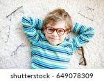 close up portrait of little... | Shutterstock . vector #649078309