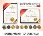 certificate template with... | Shutterstock .eps vector #649080460