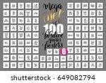 mega set of 100 hand lettering... | Shutterstock . vector #649082794