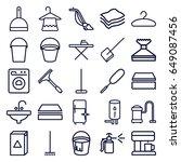 household icons set. set of 25... | Shutterstock .eps vector #649087456