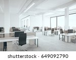 office room with city view. 3d... | Shutterstock . vector #649092790