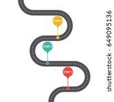 infographic template. winding...   Shutterstock .eps vector #649095136