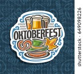 vector logo for oktoberfest on... | Shutterstock .eps vector #649098226