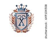heraldic coat of arms... | Shutterstock .eps vector #649104508