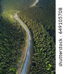 road in the forest. natural... | Shutterstock . vector #649105708
