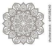 mandala. ethnic decorative... | Shutterstock .eps vector #649108240