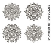 set of mandalas. ethnic...   Shutterstock .eps vector #649108288