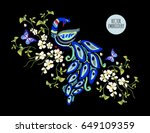 embroidery oriental floral... | Shutterstock .eps vector #649109359