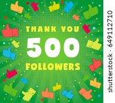 500 followers vector... | Shutterstock .eps vector #649112710
