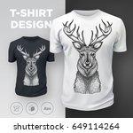 black modern t shirt print... | Shutterstock .eps vector #649114264