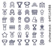 prize icons set. set of 36... | Shutterstock .eps vector #649114588
