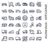 truck icons set. set of 36... | Shutterstock .eps vector #649116460