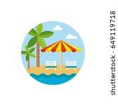 beach holiday weekend travel... | Shutterstock .eps vector #649119718