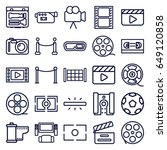 cinema icons set. set of 25... | Shutterstock .eps vector #649120858
