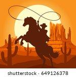 Western Cowboys Silhouette...