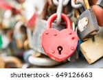 Love Red Romance Lock On The...