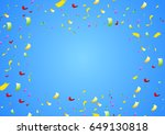 colorful shiny confetti on... | Shutterstock .eps vector #649130818